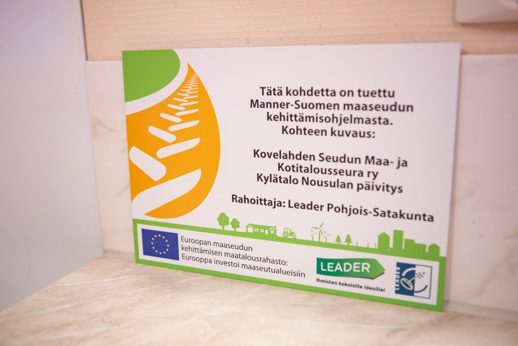 Kovelahden seudun maa- ja kotitalousseura on saanut kylätalo nousulan kunnostukseen Leader-rahoitusta.